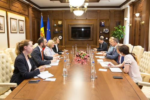 31.05.2018 Întrevedere Andrian Candu - Sarah Croft, Negociatorul principal pentru Europa de Est și Asia Centrală, Ministerul britanic al afacerilor externe