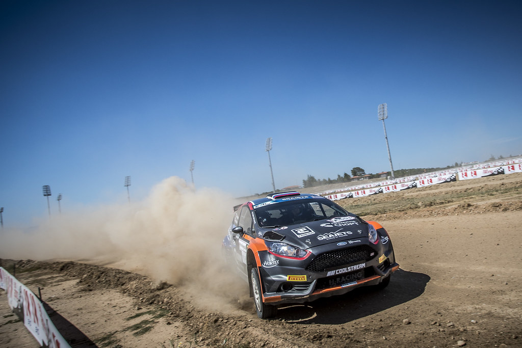 01 LUKYANUK Alexey (rus), ARNAUTOV Alexey (rus), Russian Performance Motorsport, FORD FIESTA R5, action during the European Rally Championship 2018 - Acropolis Rally Of Grece, June 1 to 3 at Lamia - Photo Gregory Lenormand / DPPI