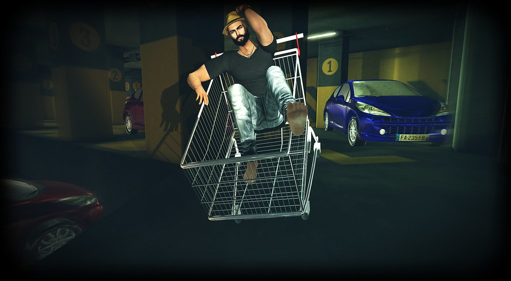The shopping cart race