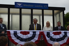 Rep. Storms at the Hartford Line opening in Windsor Locks