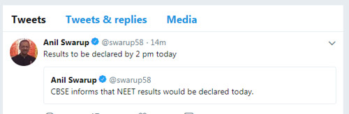 neet result 2018 anil swarup