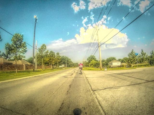 Bike ride sky