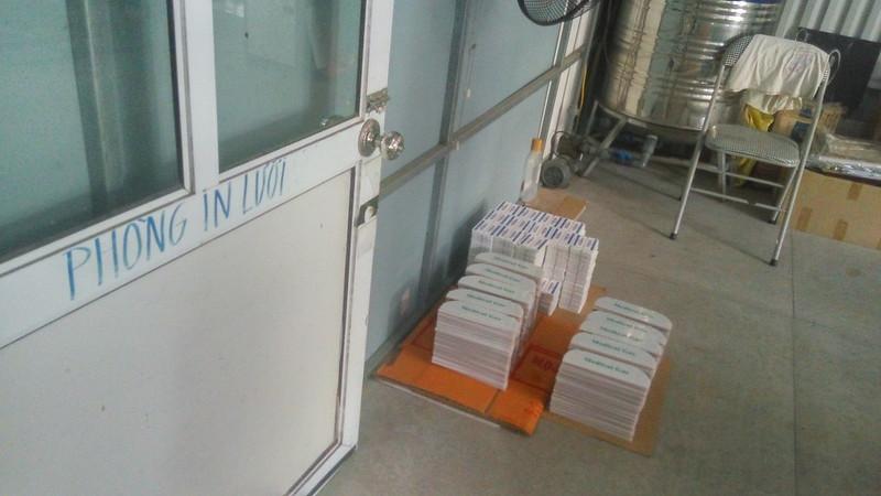Các sản phẩm in lưới dã hoàn thành trong phòng In lưới