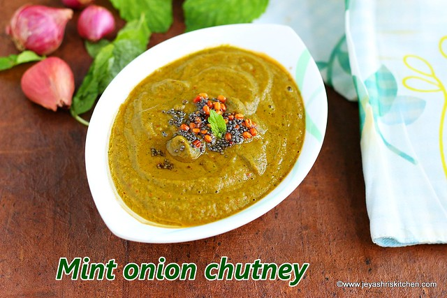 Mint-onion chutney