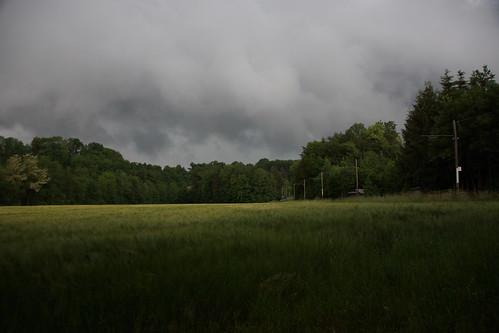 Schlechtes Wetter in Sicht. Ob ich noch trocken fotografieren kann?