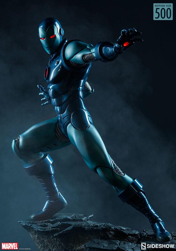 偶爾也來個冷艷配色吧~~ Sideshow Collectibles Avengers Assemble 系列【鋼鐵人 (匿蹤裝甲版)】Iron Man (Stealth Suit) 1/5 比例全身雕像作品