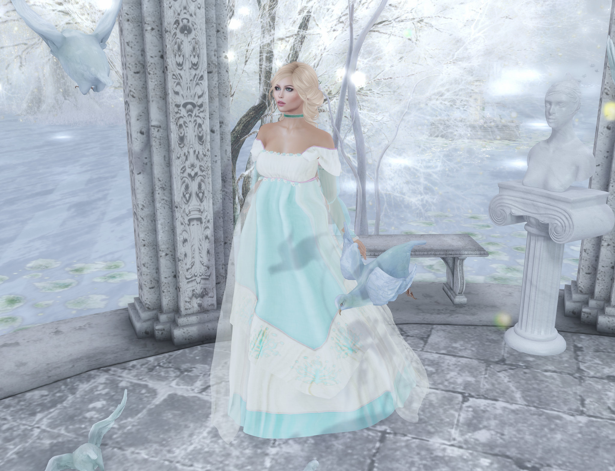 Born of Hope gown, Silvan Moon Designs @ We Love RP
