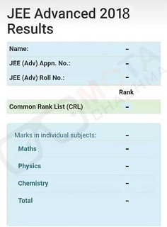 JEE Advanced Rank Card