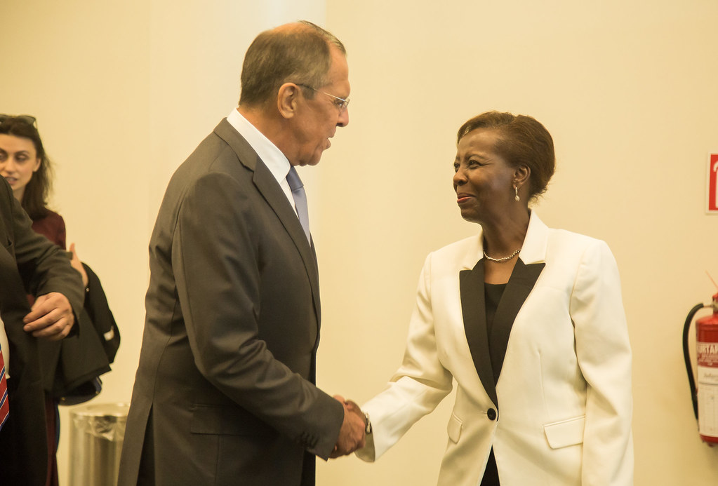 Mushikiwabo Meets Russia's Sergey Lavrov in Kigali.