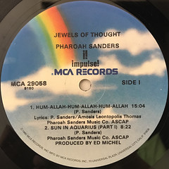 PHAROAH SANDERS:JEWELS OF THOUGHT(LABEL SIDE-A)