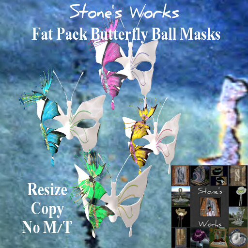 Butterfly Ball Mask Fat Pack Stone's Works