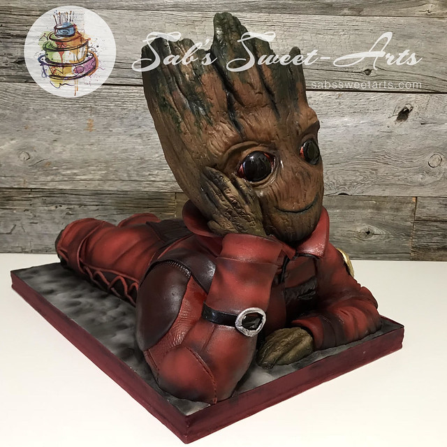 Groot Shaped Cake by Sabrina Blanchette of Sab's Sweet-Arts