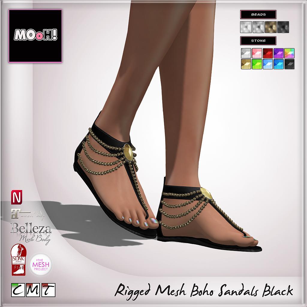 MOoH! Boho sandals black