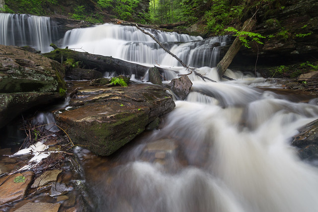 Cascading by Delaware Falls