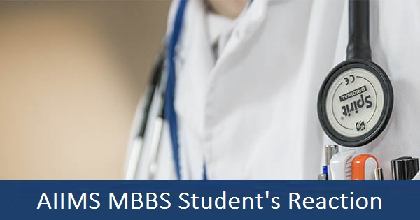 aiims mbbs students reaction