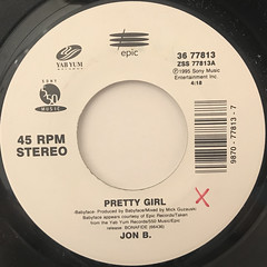 JON B.:PRETTY GIRL(LABEL SIDE-A)
