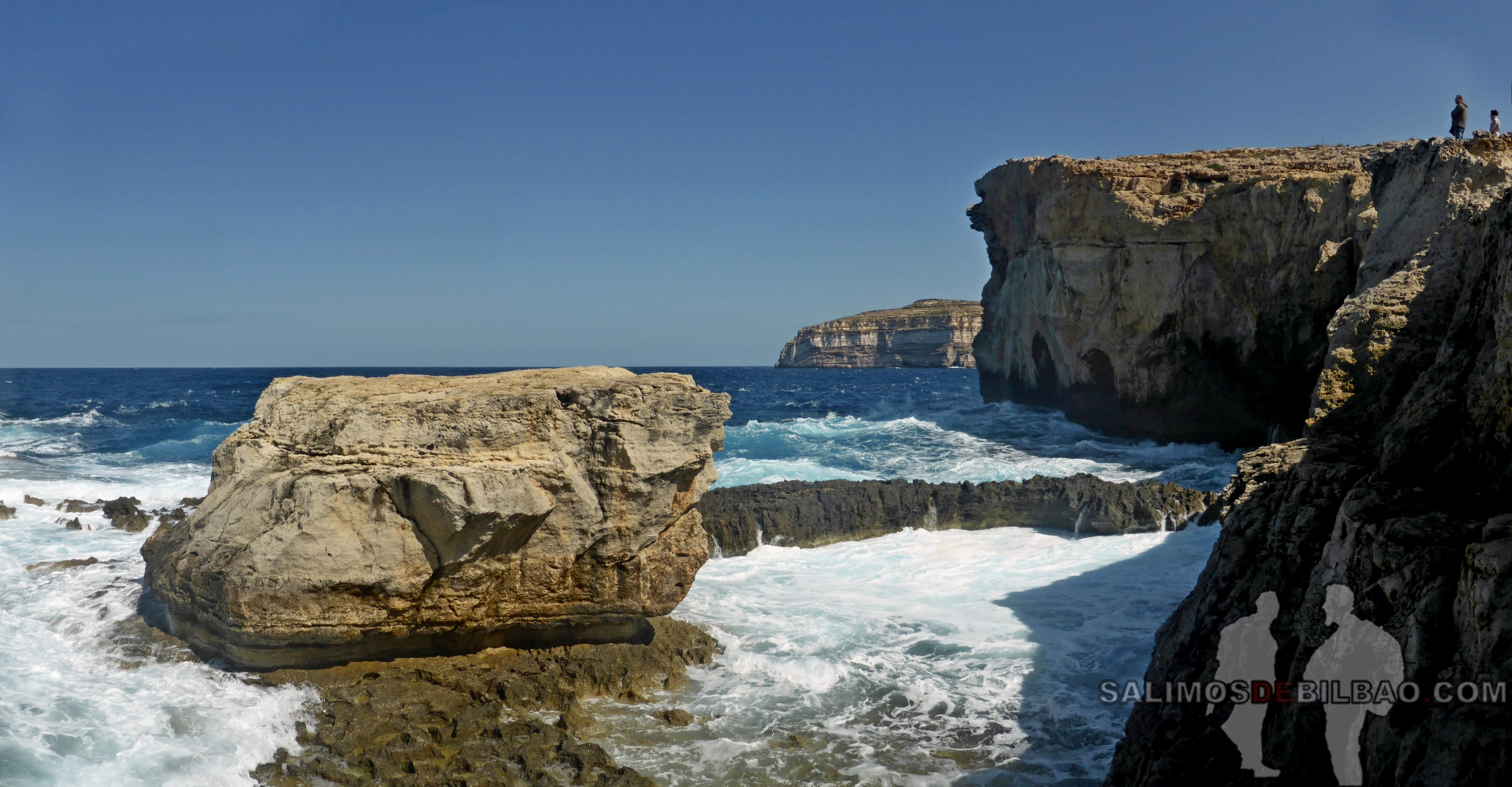 0544. Pano, Antiguo Azure Window y Blue Hole, Gozo