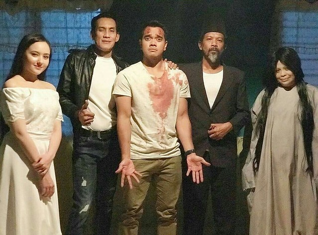 Barisan pelakon The Hantus - Hannah Delisha, Faizal Hussein, Alif Satar, Namron dan Khatijah Tan (2)