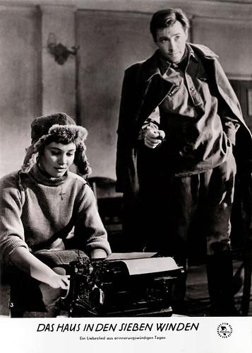 Larisa Luzhina and Vyacheslav Tikhonov in Na semi vetrakh (1962)