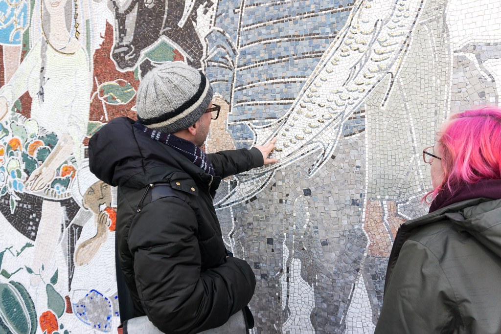 """From the Lives of the People of the Soviet Union,"" Mural - AirBnB Experience - Walking Tour with a Journalist to Discover East Berlin, March 2018"