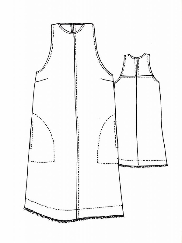 Bondi dress line drawing