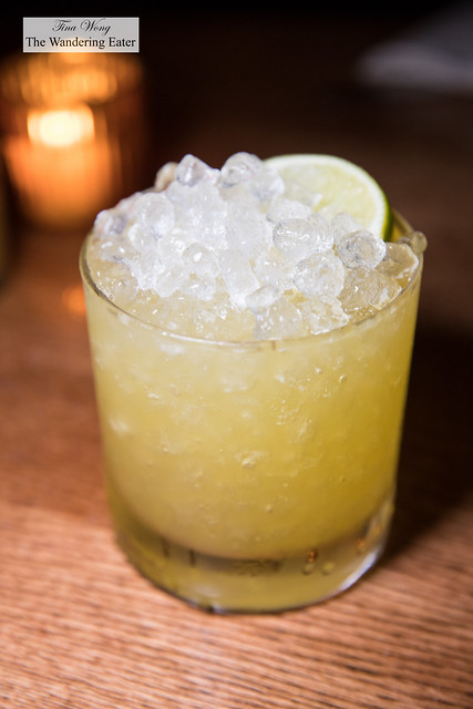 Crimes of Passion - Mezcal, tequila, passion fruit, lime, agave