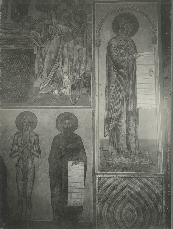 Фрески северной ветви подкупольного креста   Спасо-Преображенского собора Мирожского монастыря