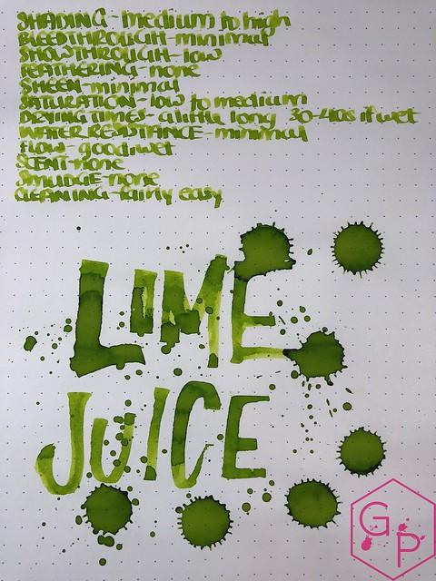 @RobertOsterInk Lime Juice Ink Review @MilligramStore 1