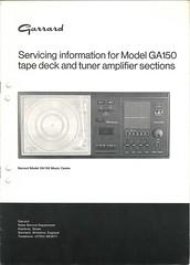 Garrard TechEng Service Manual GA150 Tape Tuner
