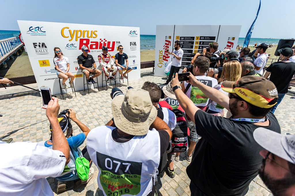 during the 2018 European Rally Championship ERC Cyprus Rally,  from june 15 to 17 at Larnaca, Cyprus - Photo Thomas Fenetre / DPPI