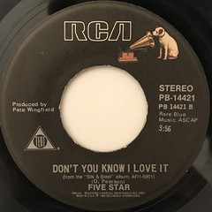 FIVE STAR:CAN'T WAIT ANOTHER MINUTE(LABEL SIDE-B)