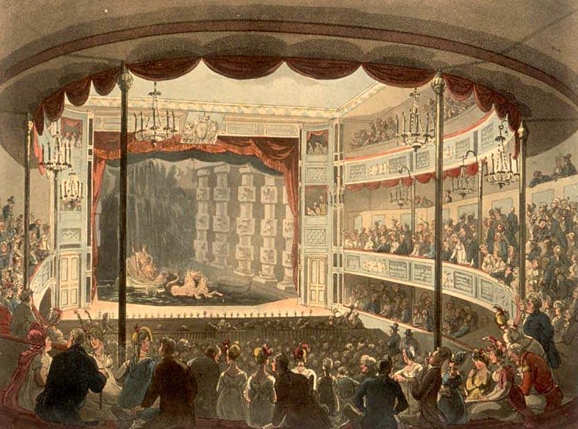 A performance at Sadler's Wells, circa 1808