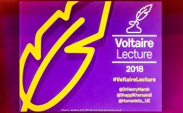 Dr Henry Marsh at the Camden Centre - Humanists UK 2018 Voltaire Lecture