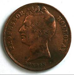 1858 Professor Hollloways Pills Medal reverse