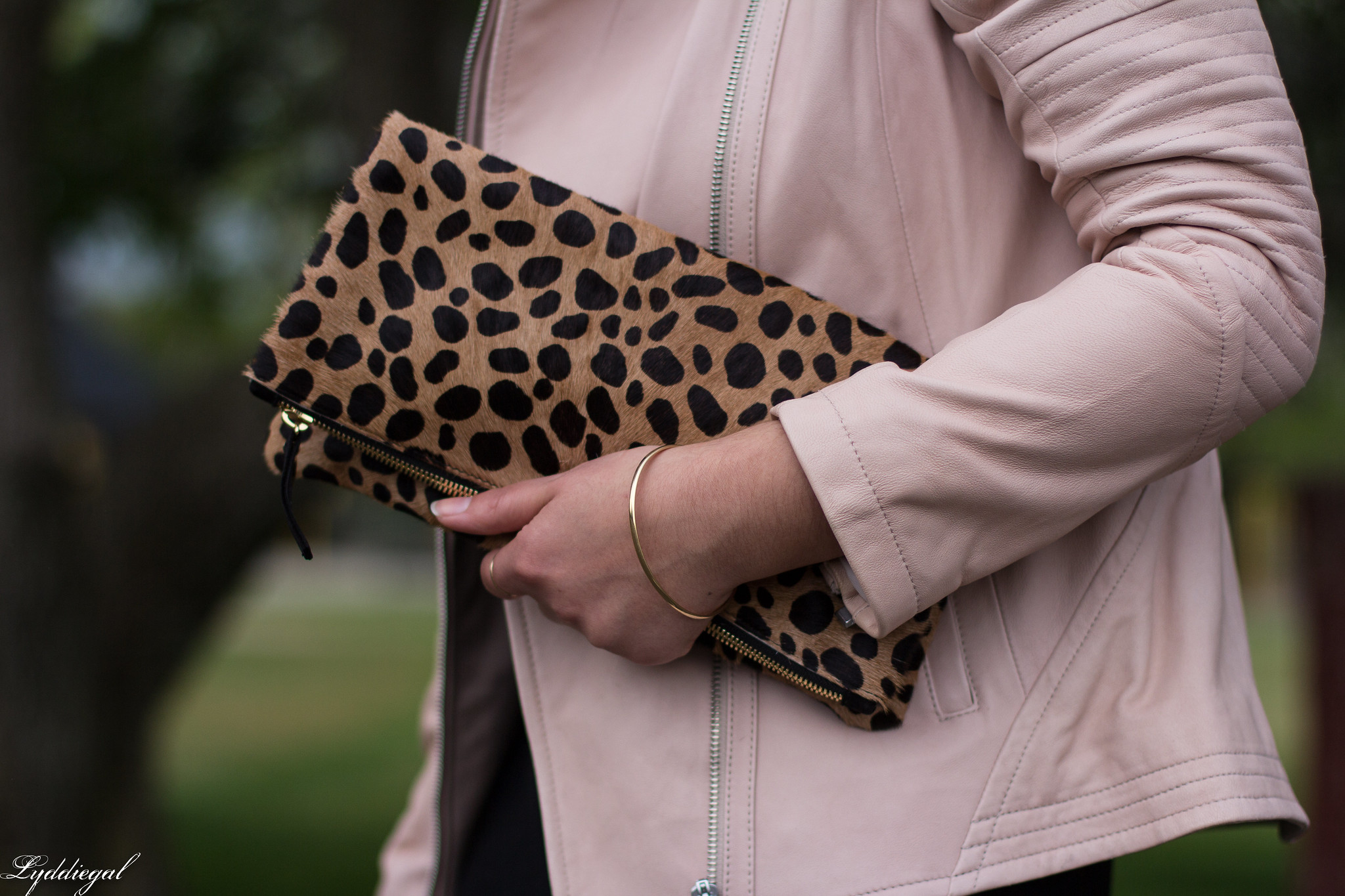 blush leather jacket, black maxi dress, leopard foldover clutch-13.jpg