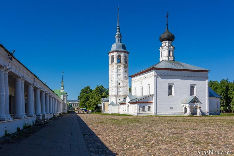 Воскресенская церковь и Торговые ряды, Суздаль