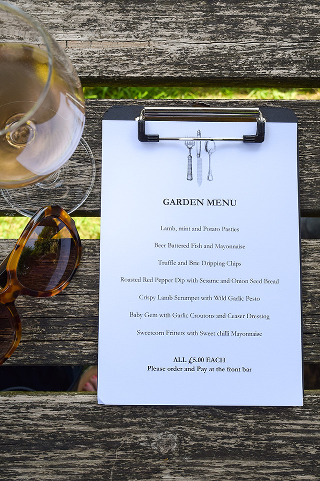 Weekend Pub Garden Menu at  at The Compasses Inn, Crundale