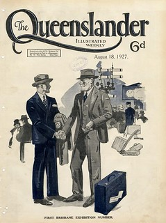 Illustrated front cover from The Queenslander, August 18, 1927