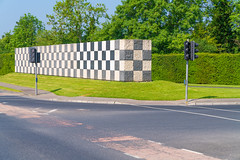 SEAN SCULLY WALL AND FLAGPOLES [MAIN ENTRANCE TO LIMERICK UNIVERSITY CAMPUS]-140669