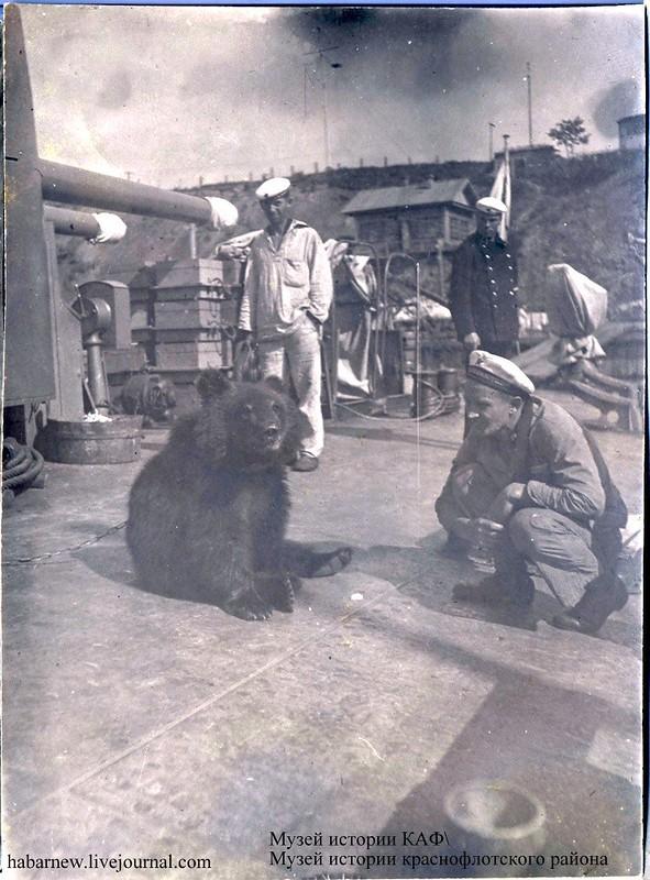 База КАФ. Монитор Красный Восток 1938 год