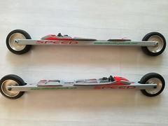 prodám kolečkové lyže s vázáním+boty - titulní fotka