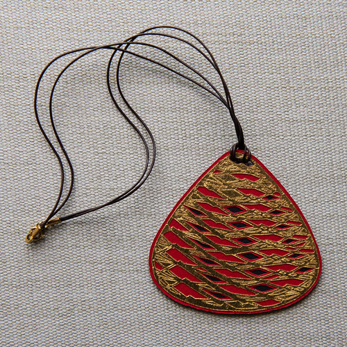 Gold Leaf and Paper Necklace by Archie Granot