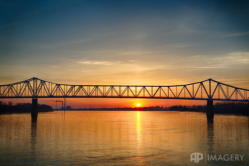 blue sunrise sunset cary reflection water sky glover ohio bridge river downtown