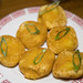 Sweet Pumpkin Rice Cake - Deep fried pumpkin rice cake stuffed with sweet red bean paste