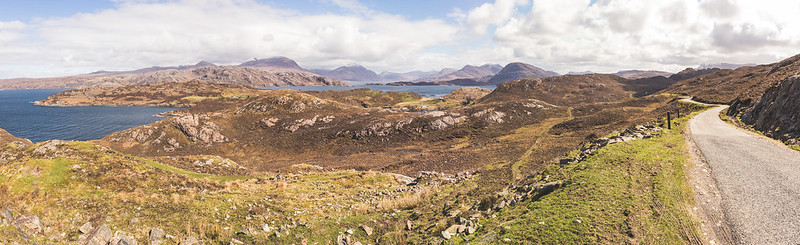 Coastal road from Applecross to Shieldaig - Scotland 2017