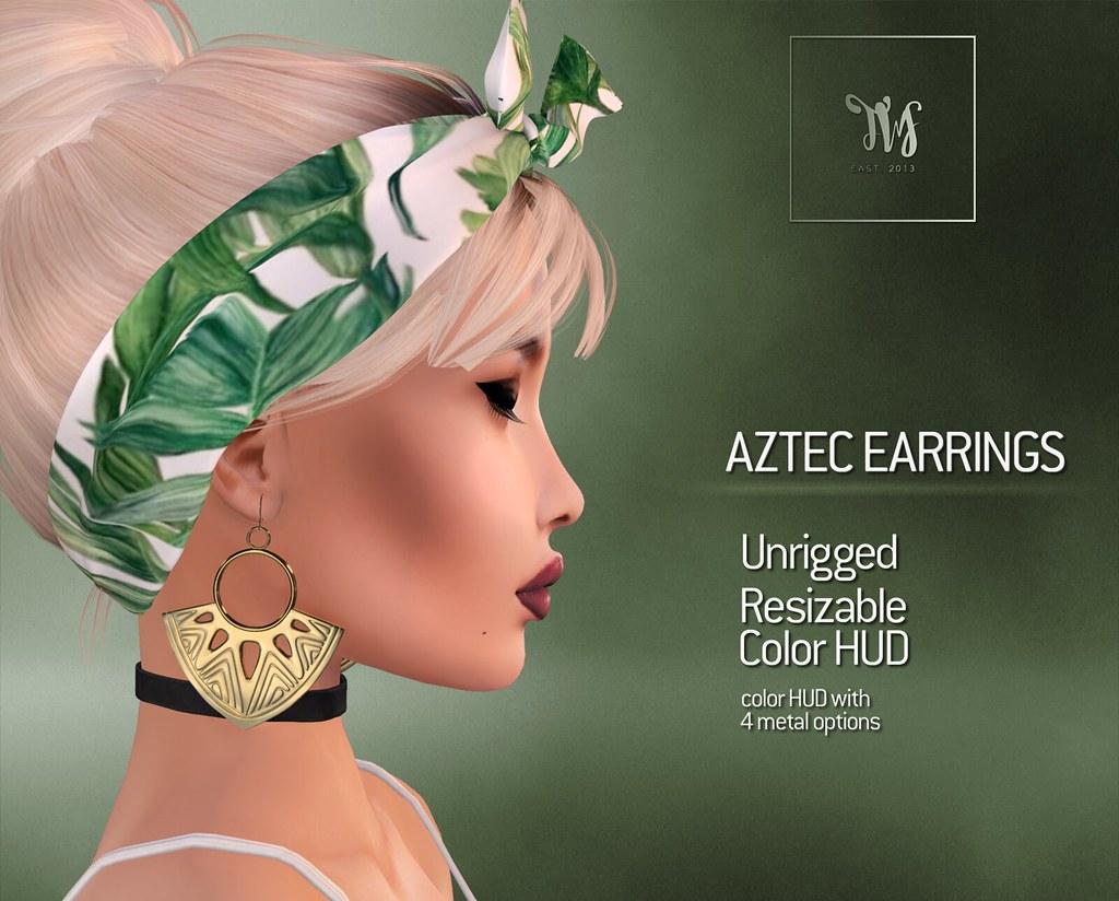 TWS - Aztec Earrings - TeleportHub.com Live!