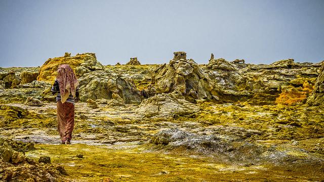 48º a la sombra, Puerta del Infierno, Danakil, Ethiopia (día 2)