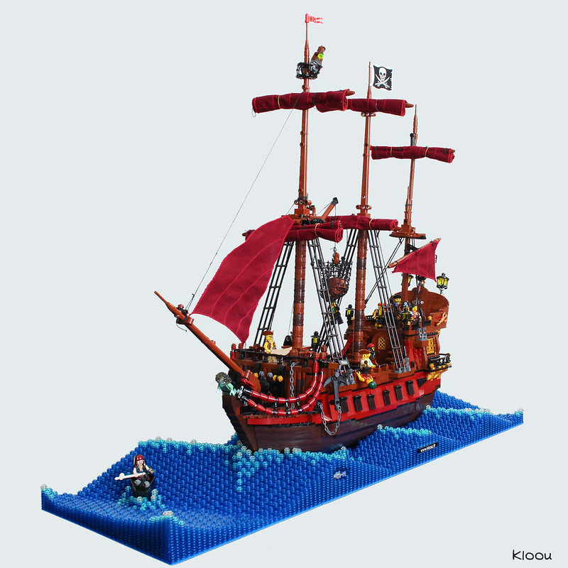 lego ship waves moc
