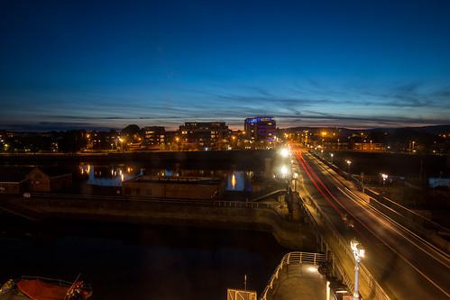 irland ireland longexposures city limerick nacht brücke bridge night canon6d light lichter travel reisen