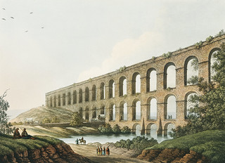 Aqueduct near Belgrade from Views in the Ottoman Dominions, in Europe, in Asia, and some of the Mediterranean islands (1810) illustrated by Luigi Mayer (1755-1803).